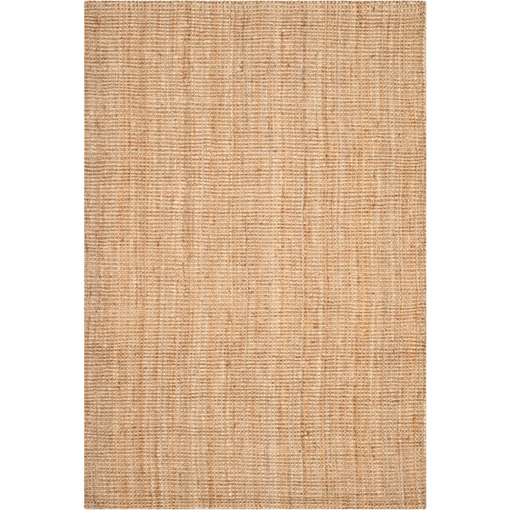 5'X8' Solid Woven Area Rug Brown - Safavieh, White