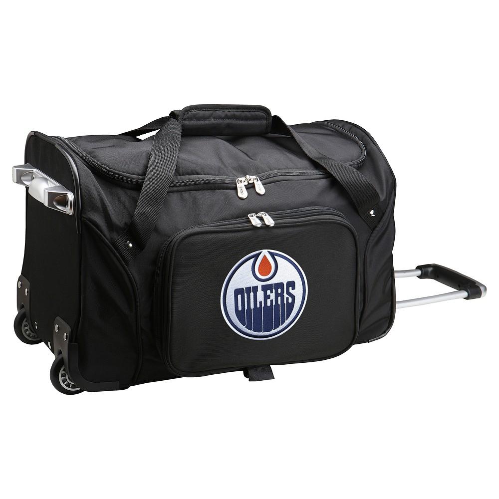 NHL Mojo Edmonton Oilers 22 Rolling Duffel Bag - Black