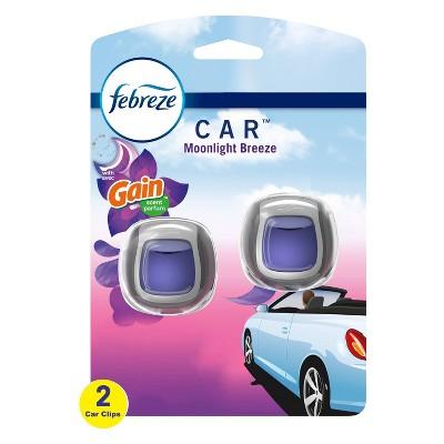 Febreze Car Odor-Eliminating Car Freshener Vent Clip Gain - Breeze -06 oz