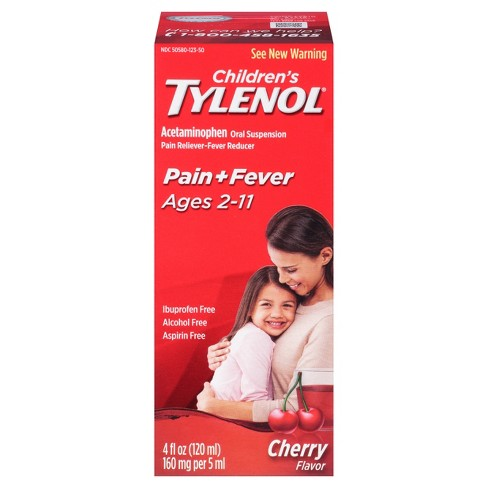 Children's Tylenol Pain + Fever Relief Liquid - Acetaminophen - Cherry - 4 fl oz - image 1 of 4