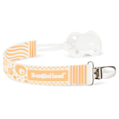 BooginHead PaciGrip Silicone Pacifier Clip Pacifier Holder - Orange