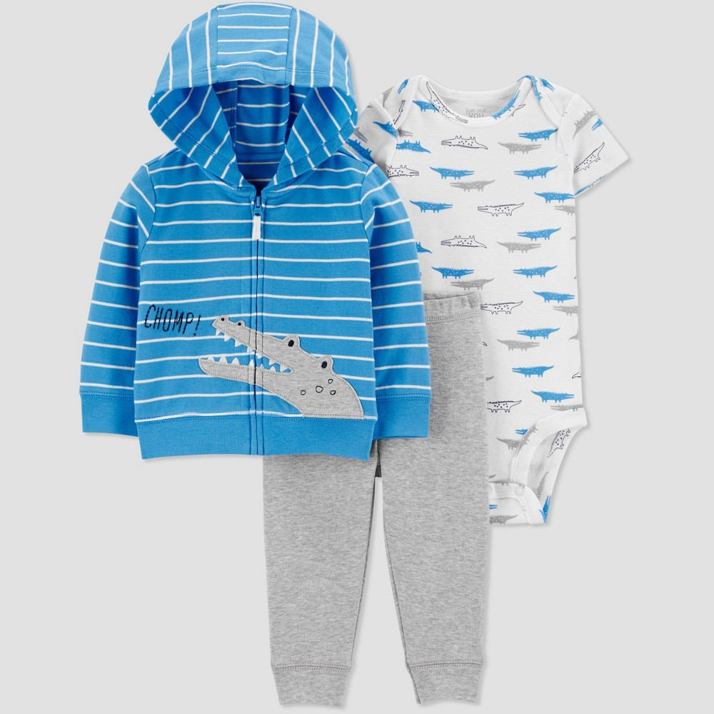 Baby Boys' South Alligator Top & Bottom Set - Just One You made by carter's Blue Newborn, Boy's was $14.99 now $8.99 (40.0% off)