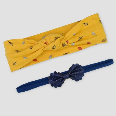Baby Girls' 2pk Thanksgiving Headwrap - Just One You® made by carter's Yellow