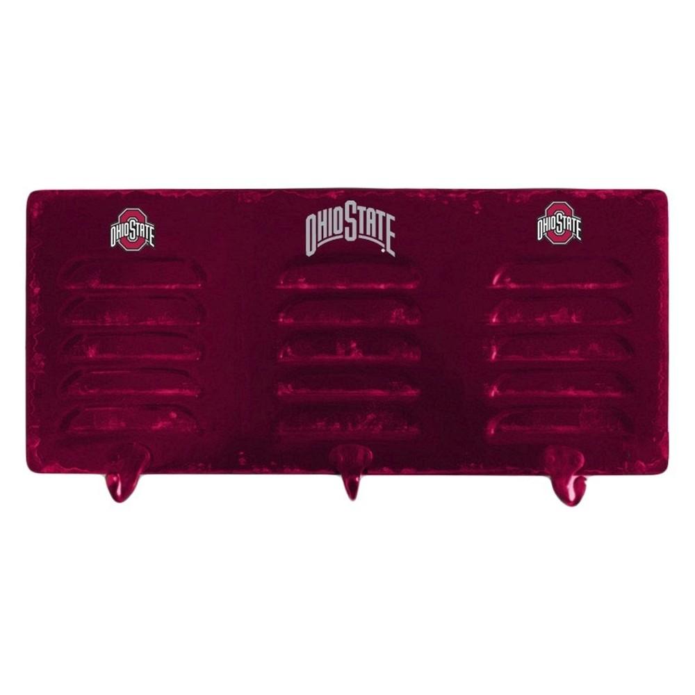 NCAA Imperial 3-Hook Metal Locker Coat Rack Ohio State Buckeyes
