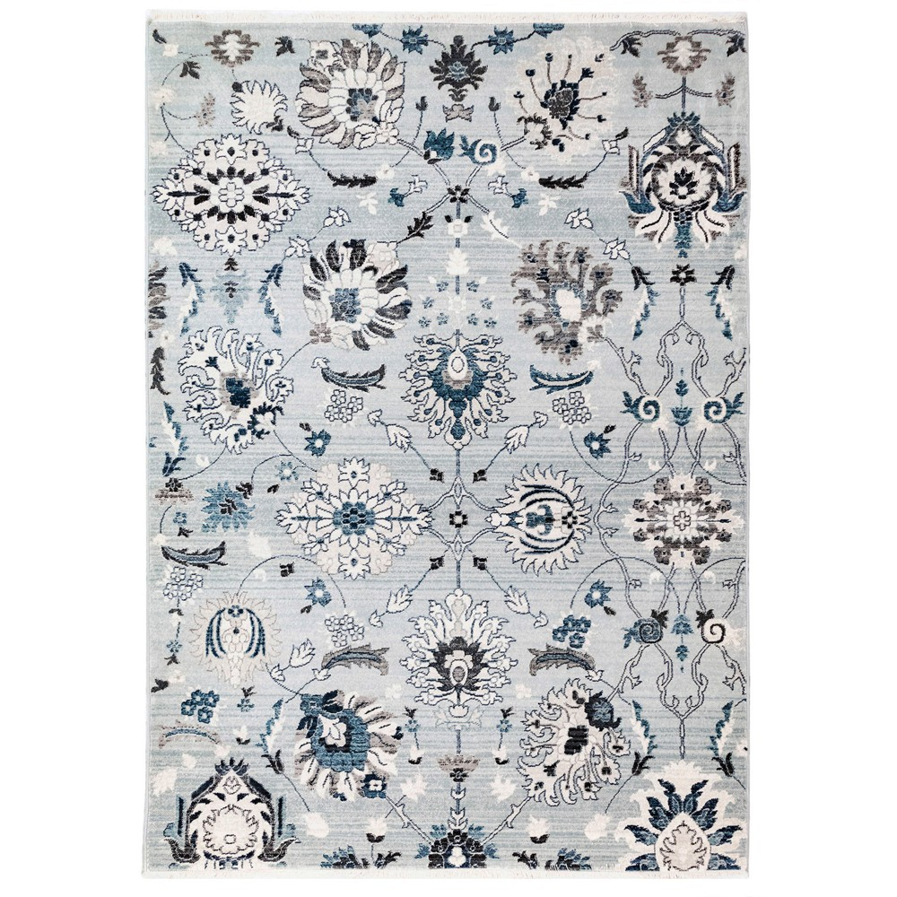 5'X8' Floral Woven Area Rug Blue - Liora Manne