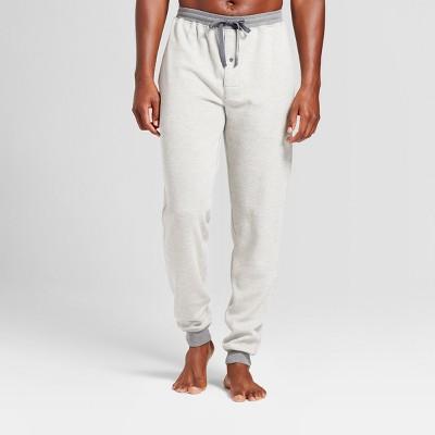 Hanes Premium Men's Waffle Knit Jogger Pajama Pants - Heather Gray XL