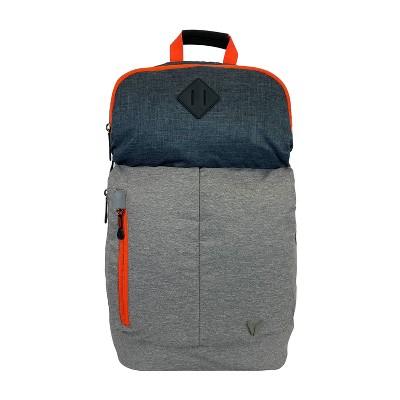 "Bondka 20.5"" Jumpstreet Backpack - Black/Gray Heather with Orange Accent"