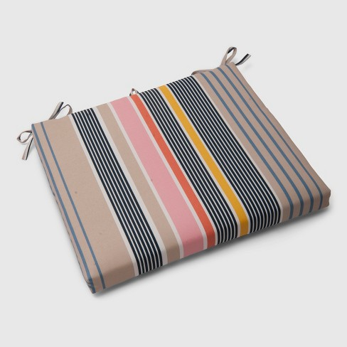 Multi-Stripe Outdoor Seat Cushion - Threshold™ - image 1 of 3