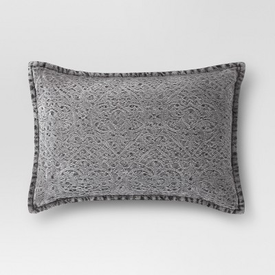 Gray Stonewashed Lumbar Pillow - Threshold™