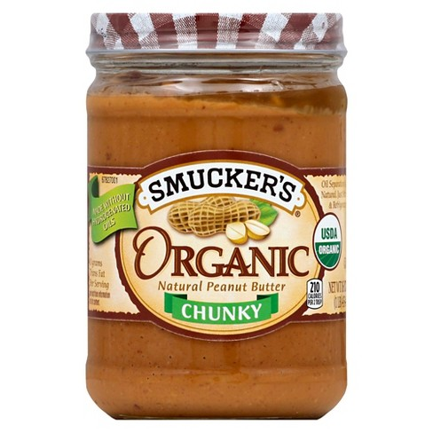 Smucker's® Organic Chunky Peanut Butter - 16oz - image 1 of 1