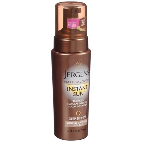 jergens natural glow instant sun moisturizing lotion deep bronze