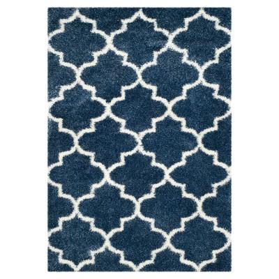 Montreal Shag Rug - Blue/Ivory - (5'3 X7'6 )- Safavieh®