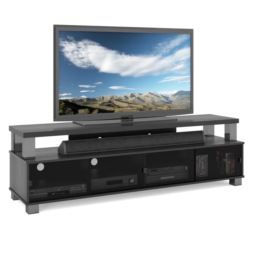 "Image of ""Bromley 2 Tier Ravenwood TV Bench Black 75"""" - Sonax"""