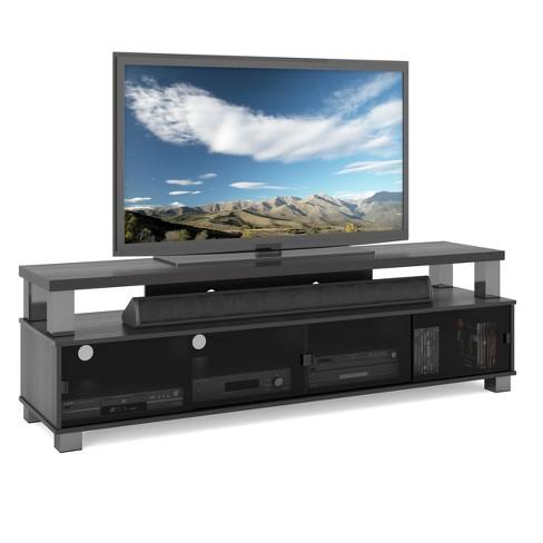 Bromley 2 Tier Ravenwood Tv Bench Black 75 Sonax Target