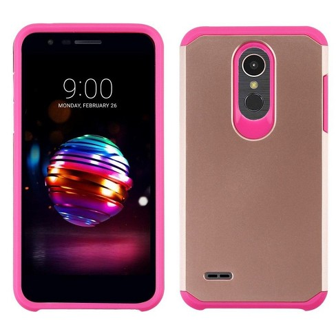 Asmyna Astronoot Dual Layer Hybrid Pc Tpu Rubber Case Cover For Lg K10 2018 K30 Premier Pro Target