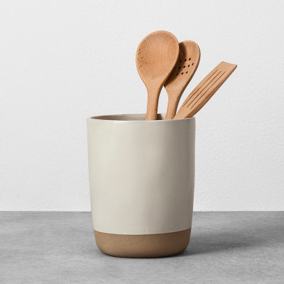 Stoneware Utensil Holder   Cream   Hearth U0026 Hand™ With Magnolia : Target