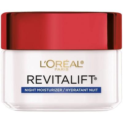 Facial Moisturizer: L'Oreal Paris Revitalift Anti-Wrinkle + Firming Night Moisturizer