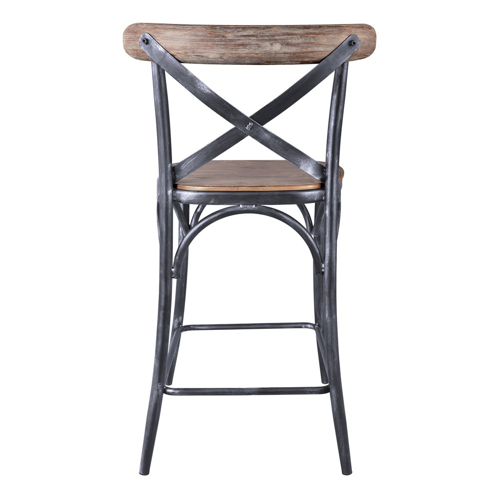 """Image of """"30"""""""" Catherine Industrial Counter Height Barstool Pine - Modern Home, Green"""""""