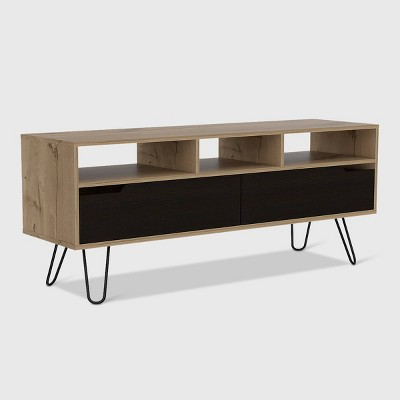 Aster 2 Door Media Console Table Light Wood - RST Brands