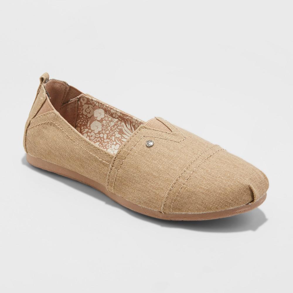 Women's Mad Love Lydia Wide Width Slip On Canvas Sneakers - Tan 10W, Size: 10 Wide