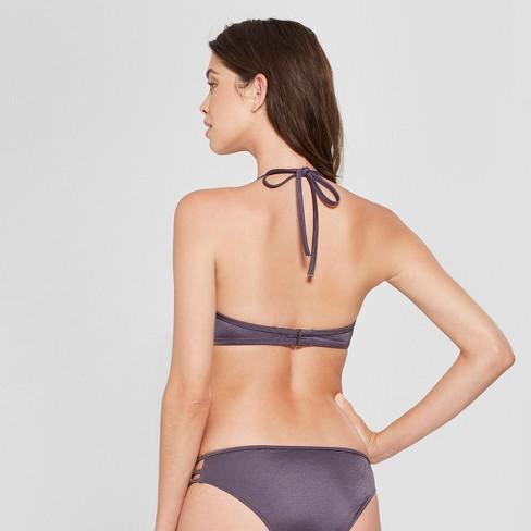 5b52441db1d85 Women's Dream Lightly Lined Halter Bikini Top - Shade & Shore Purple Steel  : Target