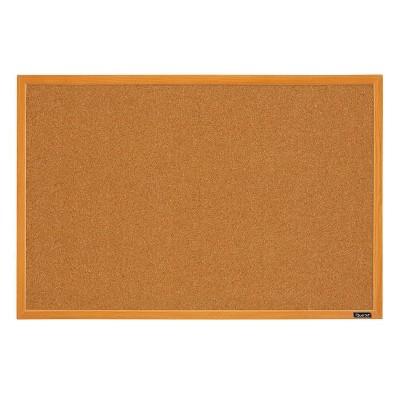 Quartet 24'' X 36'' Cork Bulletin Board Assorted Wood Finish Frame