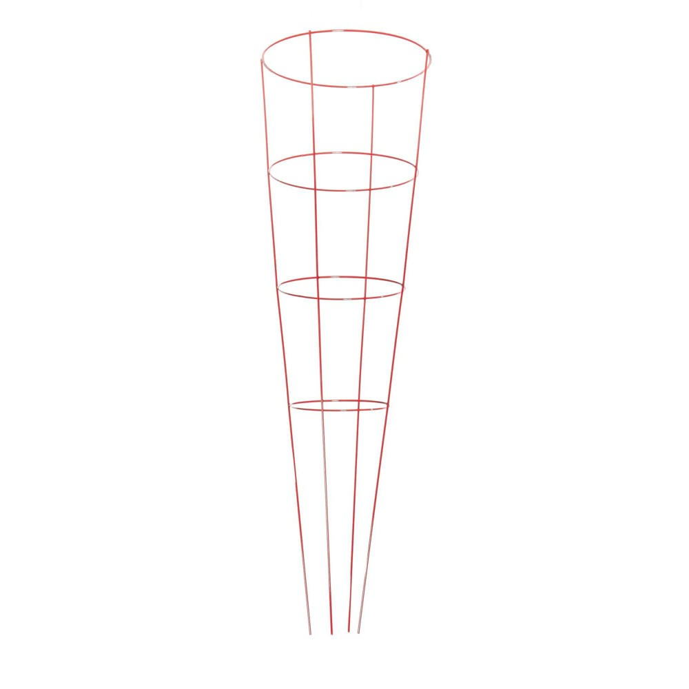 """Image of """"16""""""""x54"""""""" Metal Heavy Duty Plant 5pk - Red - Glamos Wire"""""""