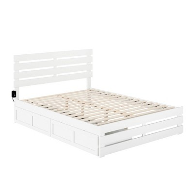 Oxford Bed with Footboard and USB Turbo Charger with 2 Extra Long Drawers - Atlantic Furniture