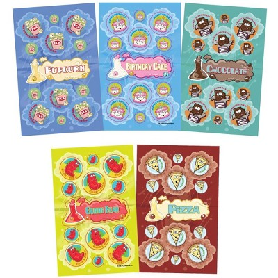 JFL Scratch N Sniff Stickers, Fun Foods, pk of 280
