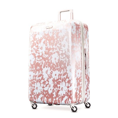 "American Tourister 28"" Arabella Hardside Spinner Suitcase - Floral Rose Gold"