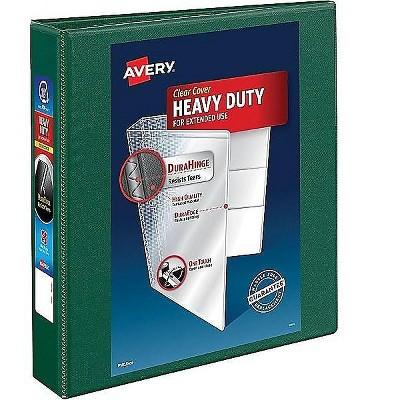 "Avery 1 1/2"" 3-Ring View Binder Green (79173) 831501"
