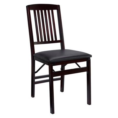 Set of 2 Triena Mission Back Folding Chair Espresso - Linon