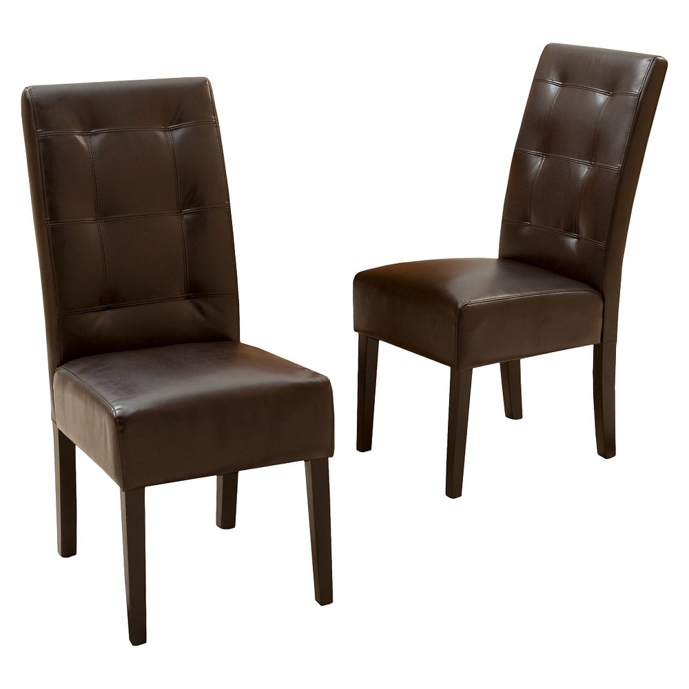 Mira Dining Chair Brown (Set of 2) - Christopher Knight Home