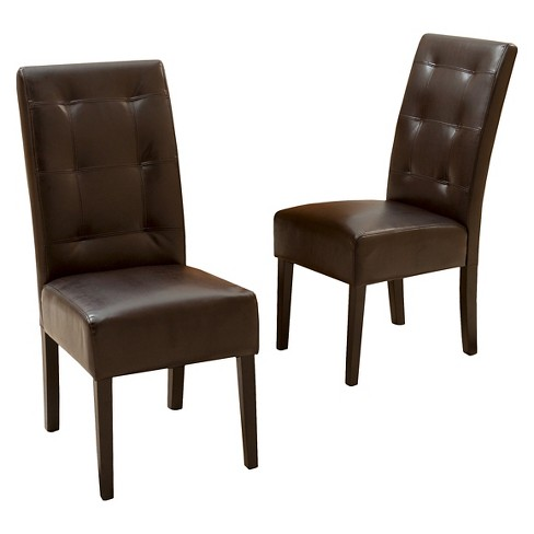 Mira Dining Chair Brown (Set of 2) - Christopher Knight Home - image 1 of 4