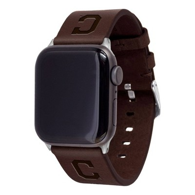 MLB Cleveland Indians Apple Watch Compatible Leather Band 38/40mm - Brown