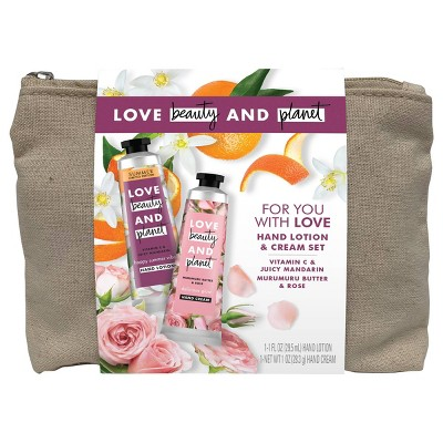 Love Beauty and Planet Hand Cream Gift Set - Murumuru Butter and Rose Oil - 2ct/1oz each