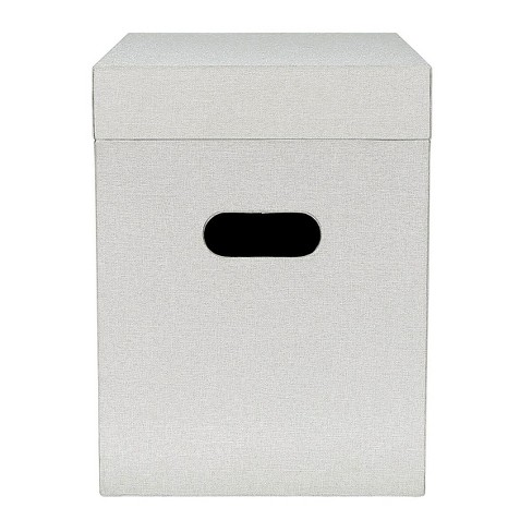 Fabric File Box Gray - Threshold™ - image 1 of 2