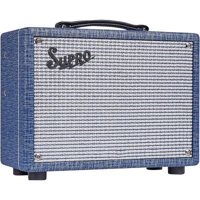 Supro 1606J 64 Super 5W 1x8 Tube Guitar Combo Amp Blue