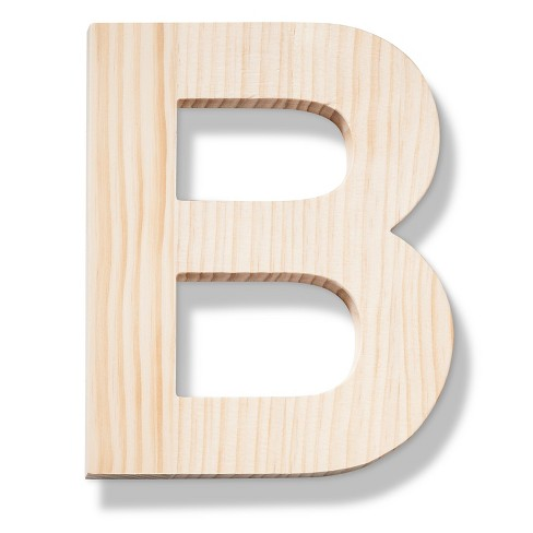 Hand Made Modern - Wood Letter Large - B