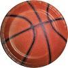 85pk Basketball Supplies Party Kit Disposable Dinnerware Set Orange/Brown - image 3 of 4