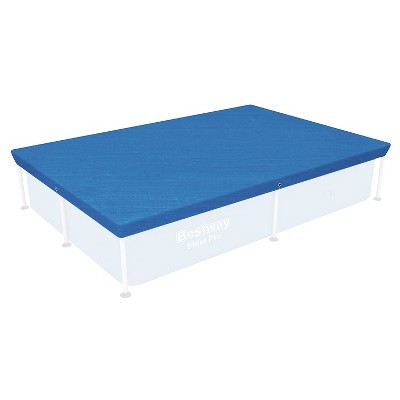 """Bestway 58103 Flowclear 7'4"""" x 60"""" Floating Rectangle Debris Above Ground Swimming Pool Cover for Steel Pro and Power Frame Pools (Pool Not Included)"""