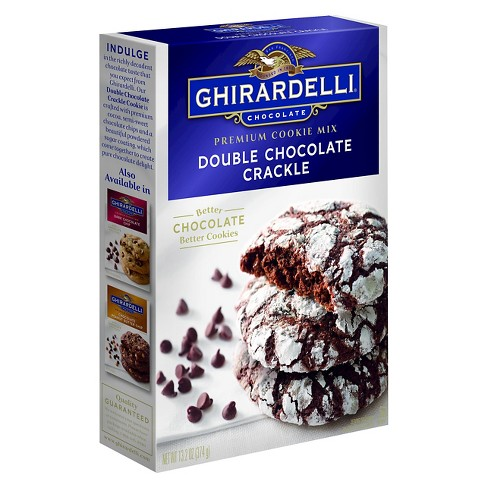 Ghirardelli Double Chocolate Crackle Premium Cookie Mix 13.2oz - image 1 of 1