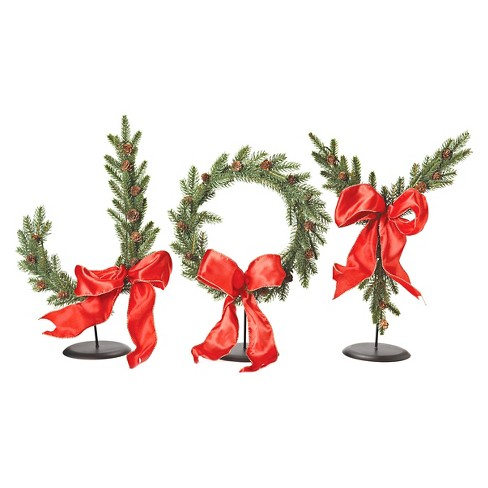 "17"" JOY Tree Branch Tabletop Decor - 3pc - image 1 of 2"