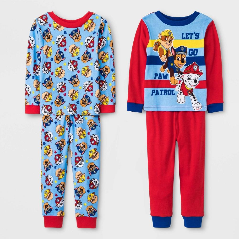 Image of Baby Boys' 4pc PAW Patrol Pajama Set - Blue/Red 18M, Boy's