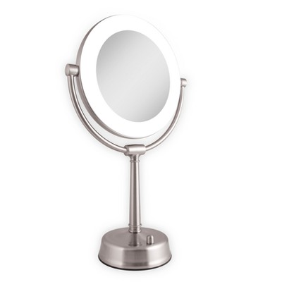 Zadro Fluorescent Lighted Mirror, Adjustable, Infinity Dimmer, 10X / 1X  Power   Satin Nickel : Target