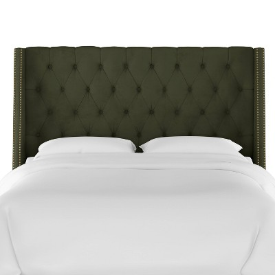 Diamond Tufted Nail Button Wingback Headboard - Skyline Furniture