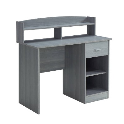 Modern Office Desk with Hutch - Techni Mobili