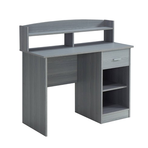Modern Office Desk With Hutch Techni, Hutch Office Desk