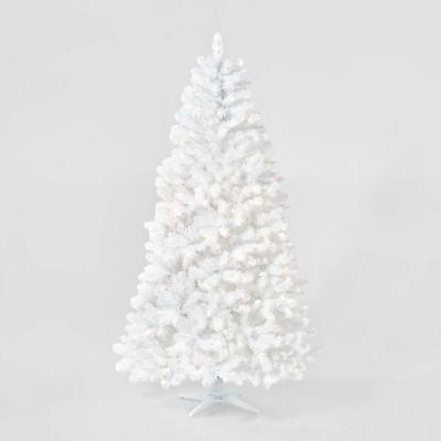 7ft Pre-lit White Alberta Spruce Artificial Christmas Tree Clear Lights - Wondershop™