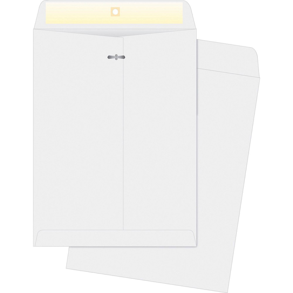 Image of Business Source 100ct Double Prong Clasp Envelopes